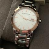 Burberry Accessories | Burberry Bu9006 Mens Watch Two Tones 38mm Nwt | Color: Gold/Silver | Size: 38mm