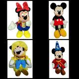 Disney Toys | Lot Of 4 Vtg Walt Disney Minnie Mickey Mouse Plush | Color: Black/Red | Size: Osbb