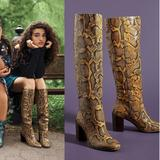 Anthropologie Shoes | Dolce Vita Cormac Snake Knee-High Boots | Color: Yellow | Size: 6.5