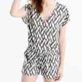 J. Crew Other | Jcrew Romper | Color: Gray/White | Size: Large