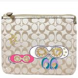 Coach Accessories   Coach Tablet Sleeve In Khaki Multicolored Poppy   Color: Gold/Tan   Size: Os