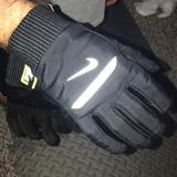 Nike Accessories | Nike Shield Mens Gloves | Color: Black/Silver | Size: Large