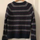 J. Crew Sweaters   Lambswool Sweater   Color: Blue/Tan   Size: M