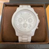 Michael Kors Accessories   Michael Kors White Ceramic Sport Chronograph Watch   Color: Silver/White   Size: 38mm