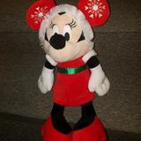 Disney Toys   Minnie Mouse Stuffed Plush Toy Winter Christmas B2   Color: Black/Red   Size: Osg