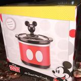 Disney Kitchen | Disney Mickey Mouse .65 Quart Mini Crock | Color: Black/Red | Size: Os