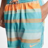 Nike Swim | Men'S 9 Swim Shorts Nike Linen Racer - Size Small | Color: Blue/Orange | Size: S