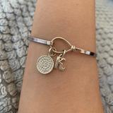 Disney Jewelry | Disney Hook Closure Initial Charm Bracelet | Color: Silver | Size: Os