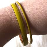 J. Crew Jewelry | J. Crew Yellow & Gold Enameled Bangle Bracelet Set | Color: Gold/Yellow | Size: Os