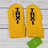 Kate Spade Accessories | Kate Spade Taxi Mittens Gloves Yellow One Size | Color: Yellow | Size: Os