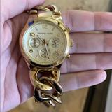 Michael Kors Jewelry   Micheal Kors Gold Bracelet Watch   Color: Gold   Size: Large
