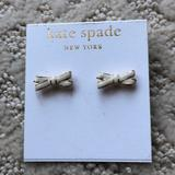 Kate Spade Jewelry | Kate Spade White And 14k Gold Earrings | Color: Gold/White | Size: Os