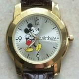Disney Accessories | Disney Mickey Mouse Stainless Steel Watch Silver D | Color: Brown/Silver | Size: Band 8.5