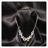 Nine West Jewelry   Nine West Chunky Chain Focal Necklace.   Color: Silver   Size: 14 Inches