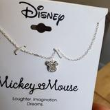 Disney Jewelry | Disney Mickey Mouse Charm Sterling Silver Necklace | Color: Silver | Size: 16 + 2 Adjustable
