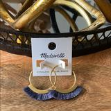 Madewell Jewelry | Hp 23 Madewell Fringe Hoop Earrings | Color: Gold | Size: Os