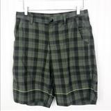 Lululemon Athletica Shorts   Lululemon Plaid Kahuna Shorts Size 34   Color: Black/Green   Size: 34