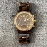 Michael Kors Accessories | Michael Kors Tortoise & Gold Watch | Color: Brown | Size: Os