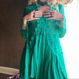 Free People Dresses | Emerald Green Lace Free People Dress | Color: Green | Size: S