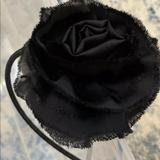 J. Crew Accessories   Girls J Crew Black Silky Rose Flower Headband   Color: Black   Size: Os