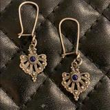 Free People Jewelry | Fp Boho Sterling Silver Lapis Tribal Earrings | Color: Silver | Size: Os