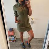 J. Crew Dresses | J Crew Military Green Babydoll Collar Dress | Color: Green | Size: 2