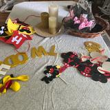 Disney Other | Mickey Mouse Party Decorations | Color: Gold | Size: Osb