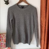 J. Crew Sweaters   J Crew Classic Gray Cable Sweater, Sz S   Color: Gray   Size: S