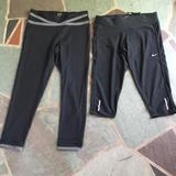 Nike Pants & Jumpsuits | Nike And Champion Capricrop Length Pant | Color: Black/Gray | Size: S