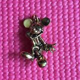 Disney Jewelry | Disney & Napier Mickey Mouse Gold Plated Charm | Color: Black/Gold | Size: Os