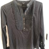 J. Crew Tops | J Crew Tuxedo Long Sleeve Tshirt W French Cuffs | Color: Black | Size: M