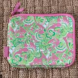 Lilly Pulitzer Accessories | Lilly Pulitzer Ipad Cover Neoprene Sleeve | Color: Green/Pink | Size: Os