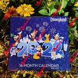 Disney Office | Disneyland 21-2022 16 Month Calendar | Color: Blue | Size: Os