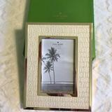 Kate Spade Accents | Kate Spade 4x6 Picture Perfect Gold Frame Nwt | Color: Cream/Silver | Size: Os