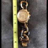 Michael Kors Accessories | Michael Kors Gold Tortoise Chain Link Ladies Watch | Color: Brown/Gold | Size: Standard