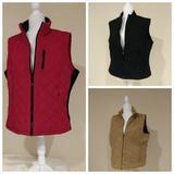 Columbia Jackets & Coats   Bundle Of 3 Front Zip Vests   Color: Red/Tan   Size: Xl