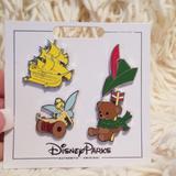 Disney Accessories   Disney Parks Peter Pan'S Pin Set   Color: Green/Yellow   Size: Os