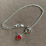 Disney Jewelry   Disney Ruby Sterling Silver Necklace   Color: Red   Size: 22 Inches