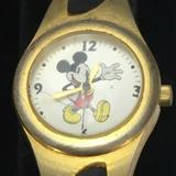 Disney Accessories | Disney Retro Mickey Mouse Sii Watch Mc2283 Ladies | Color: Black/Gold | Size: Os