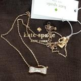 Kate Spade Jewelry | Kate Spade Ready Set Bow Gold Diamond Necklace | Color: Gold | Size: Os
