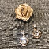 Nine West Accessories | Nine West Swarovski Crystal Posts | Color: Gold | Size: Os