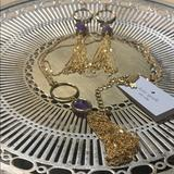 Kate Spade Jewelry   Kate Spade Necklace And Earring Set.   Color: Gold/Purple   Size: Necklace 24 Inches.