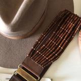 Anthropologie Accessories | ... Anthropologie Wood Beaded Belt | Color: Brown | Size: Small With Elastic Waist Band