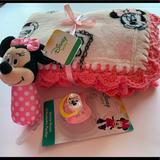 Disney Other   Disney Pink Minnie Mouse Baby Blanket Gift Set   Color: Pink   Size: Osbb