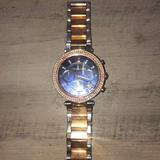 Michael Kors Accessories   Michael Kors Two-Tone Watch With A Navy Face   Color: Gold/Silver   Size: Os