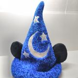 Disney Other | Disney Parks Sorcerer Mickey Mouse Velvet Hat | Color: Blue/Silver | Size: Os