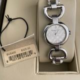 Burberry Jewelry | Burberry Swiss Made Silver Bracelet Watch | Color: Silver/White | Size: Os
