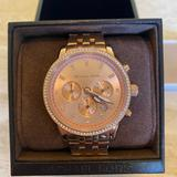 Michael Kors Accessories   New Michael Kors Women'S Rose Gold Tone Watch   Color: Gold/Pink   Size: Os