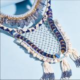 Free People Jewelry   Deepa Gurnani Necklace   Color: Blue/Silver   Size: Os