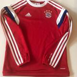 Adidas Shirts & Tops | Boys Small Bayern Munich Soccer Long Sleeve | Color: Blue/Red | Size: Sb
